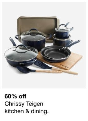 60% Off Chrissy Teigen Kitchen & Dining from macy's