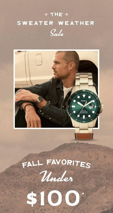 Fall Favorites Under $100 from Fossil