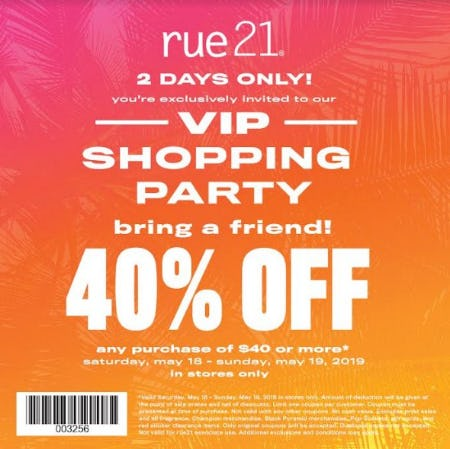 VIP Shopping Party! from rue21