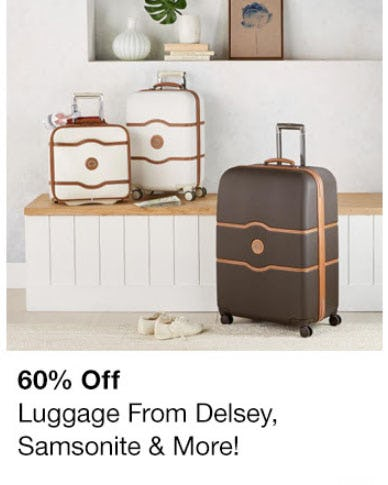 60% Off Luggage from macy's