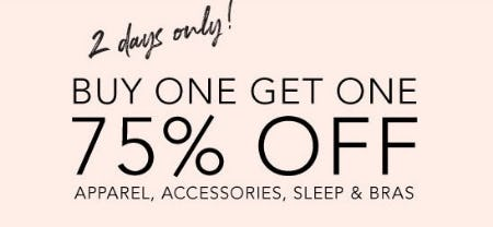 Buy One, Get One 75% Off Apparel, Accessories, Sleep & Bras from Lane Bryant