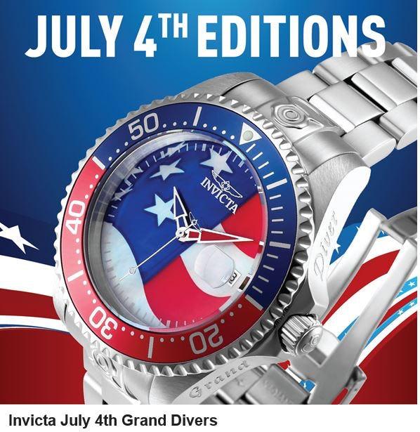 Invicta July 4th Edition Grand Divers