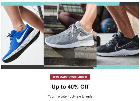 Up to 40% Off your Favorite Footwear Brands