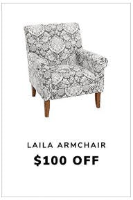 $100 Off Laila Armchair from Pier 1 Imports