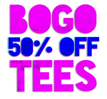 BOGO 50% Off Tees from Spencer's Gifts