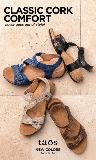 Best-Selling Cork Sandals from THE WALKING COMPANY