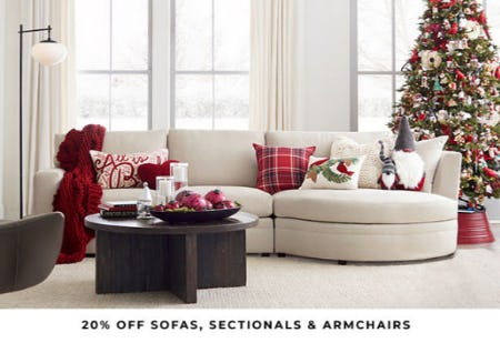 20% Off Sofas, Sectionals & Armchairs