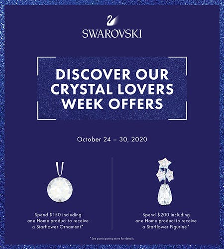 Swarovski Crystal Lovers Week!