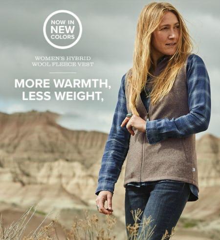 Women's Hybrid Wool Fleece Vest