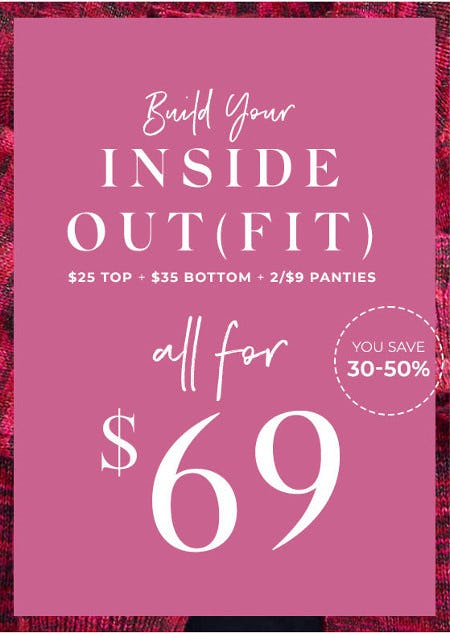 Top, Bottom & Two Panties All for $69 or Less from Lane Bryant