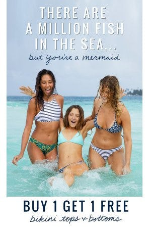 Buy 1, Get 1 Free Bikini Tops & Bottoms from Aerie
