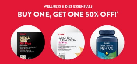 Buy One, Get One 50% Off from GNC