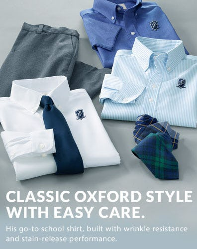 Classic Oxford Style with Easy Care from Lands' End