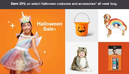 Save 25% Halloween Sale