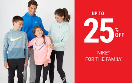 Up to 25% Off Nike from Belk