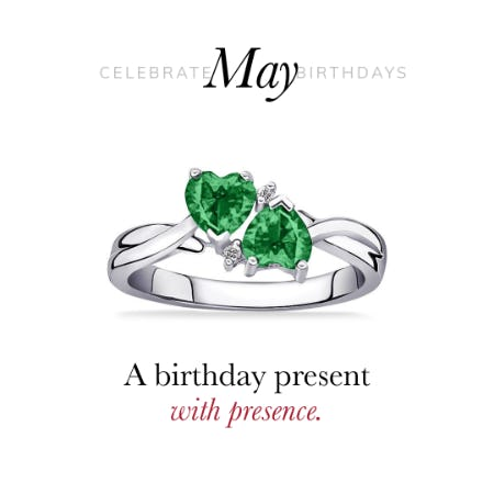 30% Off: May Emerald Birthstone Jewelry Sale from Rogers & Hollands Jewelers