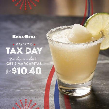 Tax Day | Kona Grill from Kona Grill
