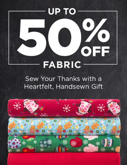 Up to 50% Off Fabric from Michaels