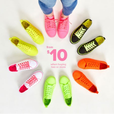 $10 Sneakers from Rainbow