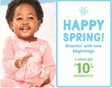 1-Piece Pjs $10 & Up Doorbuster from Carter's
