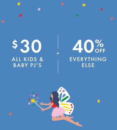 $30 Kids and Baby PJ's + 40% Off Everything Else from Hanna Andersson