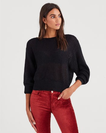 Open Weave Sweater from 7 for All Mankind