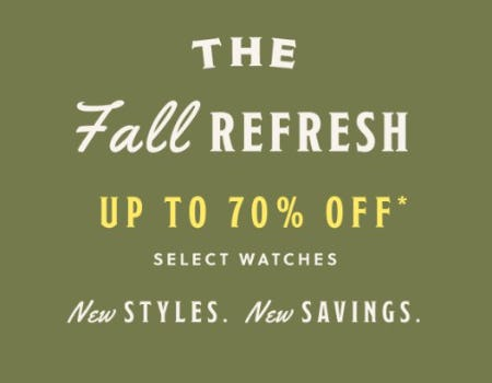 Up to 70% Off Select Watches from Fossil