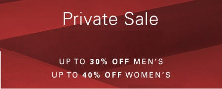 Private Sale from Hugo Boss