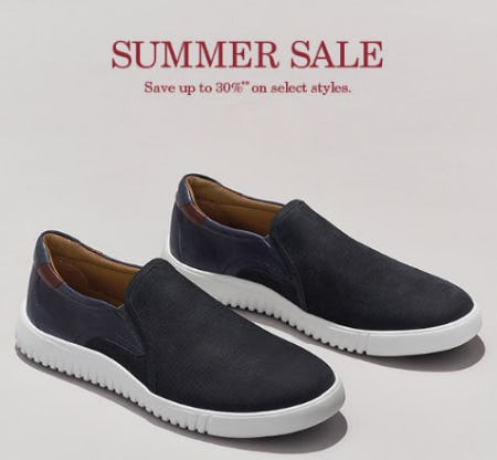 Up to 30% Off Summer Sale from JOHNSTON & MURPHY