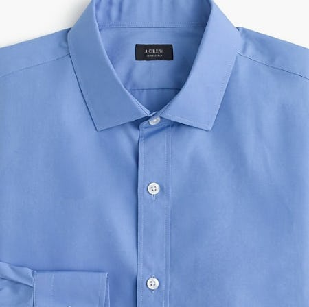 Ludlow Stretch Two-Ply Easy-Care Cotton Dress Shirt in Solid from J.Crew