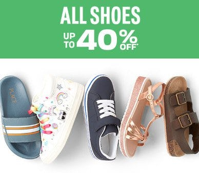 All Shoes up to 40% Off from The Children's Place