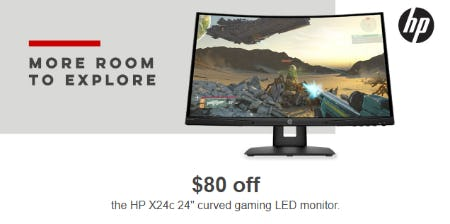 """$80 Off The HP X24c 24"""" Curved aming LED Monitor"""