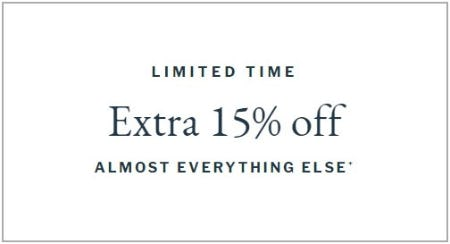 Extra 15% Off Almost Everything Else