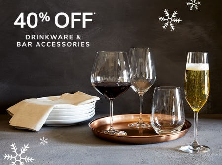 40% Off Drinkware & Bar Accessories from Pier 1 Imports