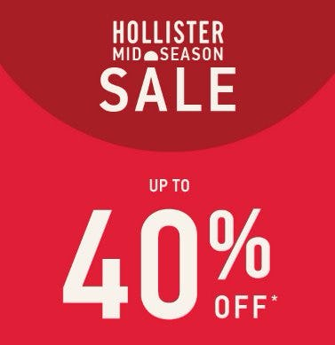 Mid-Season Sale up to 40% Off