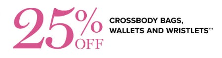 25% Off Crossbody Bags, Wallets and Wristlets from Vera Bradley