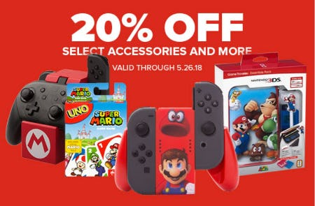 20% Off Select Accessories & More