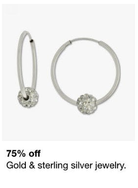75% Off Gold & Sterling Silver Jewelry