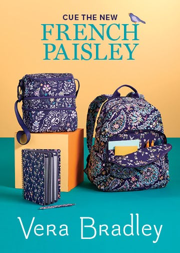 Introducing French Paisley from Vera Bradley