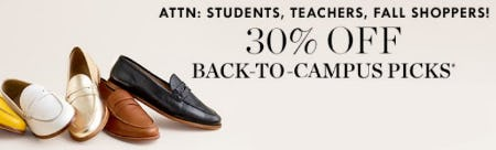 30% Off Back-to-Campus Picks from J.Crew-on-the-island