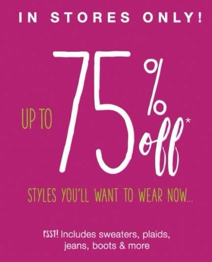 Up to 75% Off Styles You'll Want to Wear