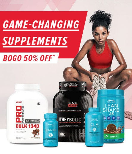BOGO 50% Off Game-Changing Supplements from GNC