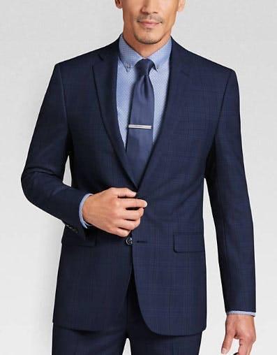Calvin Klein Navy Plaid Extreme Slim Fit Suit