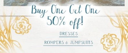 BOGO 50% Off Dresses, Rompers & Jumpsuits