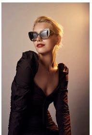 b6320b62d15 Large Cateye Acetate Sunglasses from the Dolce and Gabbana Cuore Sacro  Collection