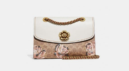 Parker In Embellished Signature Rose Print from Coach