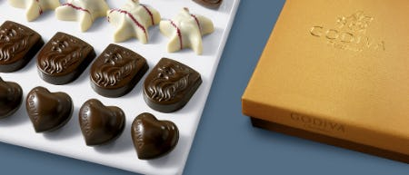 Buy 4, Get 1 FREE in Chocolate Case from Godiva Chocolatier