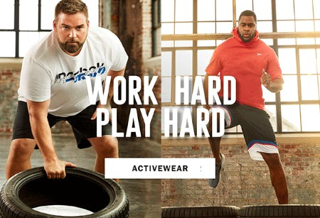 Work Hard, Play Hard in Activewear from Dxl Mens Apparel