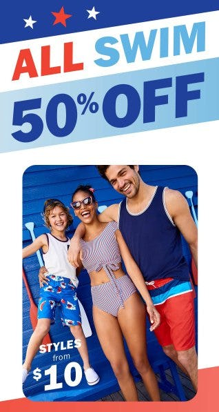 All Swim 50% Off from Old Navy