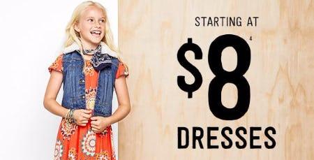 Dresses Starting at $8